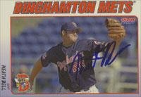 Heath Bell Binghamton Mets - Mets Affiliate 2001 Choice Autographed Card - Minor League Card. This item comes with a certificate of authenticity from Autograph-Sports. Autographed
