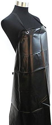 ARTIBETTER Waterproof Heavy Duty Apron PVC Kitchen Resist Oil Apron Unisex Black