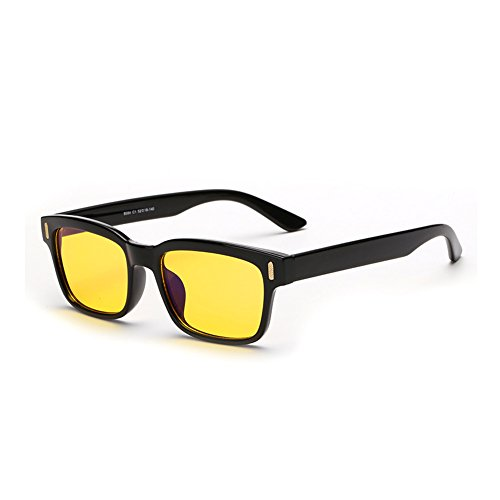 Cyxus Blue Light Filter [Better Sleep] Block UV Yellow Lens Glasses, Anti Fatigue Blocking Headaches Eye Strain, Computer Reading Eyewear, Great for Cell Phone Readers(Black - Screen Computer Sunglasses
