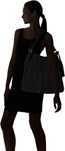 Pckorie De Hobo Negro Mujer Suede Shoppers black Hombro Y Pieces Bag Bolsos SawqSdx