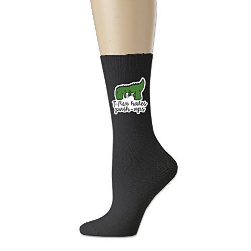 T-Rex Hate Pushups Ayg Fun Comfort Blend Crew Socks