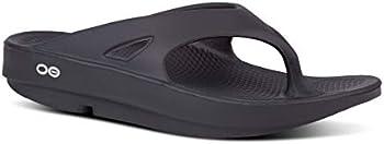Oofos OOriginal Thong Recovery Sandal (Black)