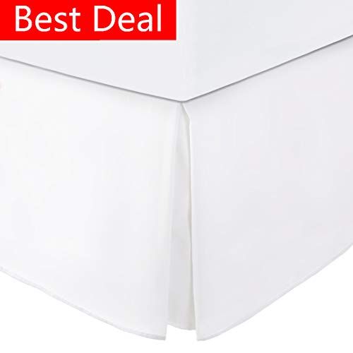 Balichun Ultra Soft Bed Skirt - Premium Queen Size White with 15 Inch Drop Hotel Quality,Hypoallergenic, Wrinkle and Fade Resistant
