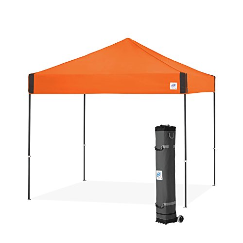 E-Z UP Pyramid Instant Shelter Canopy, 10 by 10', Steel Orange