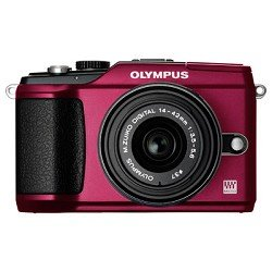 Olympus PEN E-PL2 12.3 MP CMOS Micro Four Thirds Interchangeable Lens Digital Camera with 14-42mm Lens (Red) (Old Model)