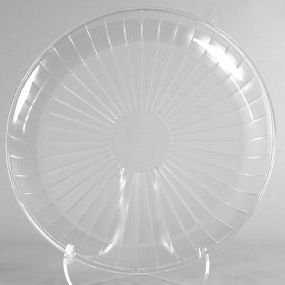 (1 X Clear Plastic Serving Platter, Round 18-inch)