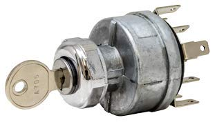Tectran 19-1070 Ignition & Starter Switch, Position 4, Base 3, Mounting Style 1, Starter Lockout N