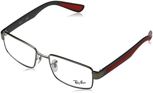Ray Ban Optical Montures de lunettes RX6319 Pour Homme Matte Black, 53mm 2837: Matte Gunmetal
