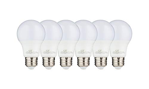 (PACK OF 6) 9W LED A19 Light Bulb - Equivalent to 60W – 3000K Soft Warm White - 800 Lumens - E26 Edison Base - UL Listed - 15000 Hours - For Home, Office, Closet, Indoors Spaces- Energy Efficient