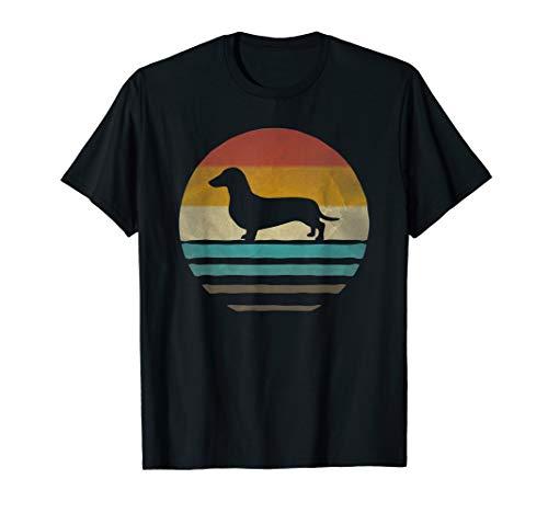 Doxie Dachshund Dog Shirt Retro Vintage 70s Silhouette Gift