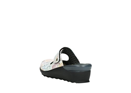 Clogs Up 70980 White Wolky Comfort Leather Color Multi Canal 5pvPWBqWnx