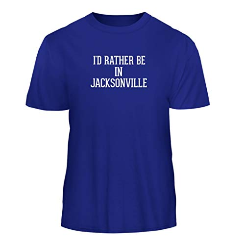 Tracy Gifts I'd Rather Be in Jacksonville - Nice Men's Short Sleeve T-Shirt, Blue, Large -