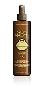 Sun Bum Moisturizing Tanning Oil, SPF 15, 9oz Bottle, Protecting Dark Tanning Oil, Organic Coconut Oil, Aloe Vera