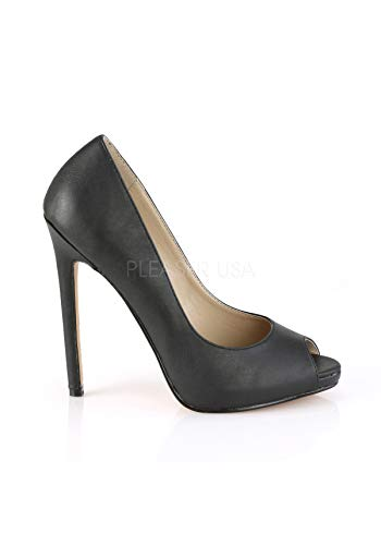 42 Donna col Tacco Sexy Pleaser Leather Faux Blk Scarpe Tw5q7nng