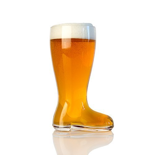 Domestic Corner - Das Boot - 1 Liter Large Beer Boot Oktoberfest Drinking Mug - Holds Over 2 Beers -