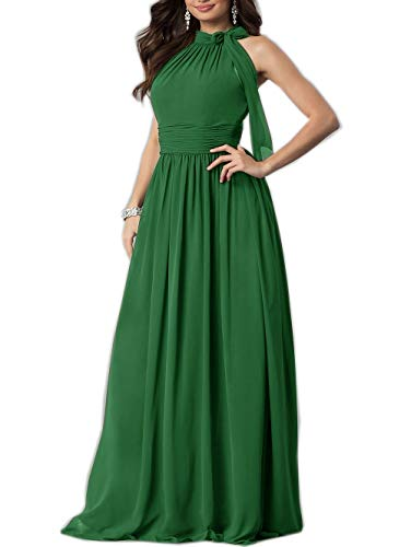 Strapless Chiffon Cocktail Dress - Roiii Women Cleb Prom Formal Casual Party Cocktail Wedding Evening Sleeveless High Waist Chiffon Plus Size Dress (Large, Green)