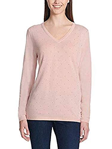 DKNY Jeans Ladies' Rhinestone Embellished Sweater (Pink,Small) ()