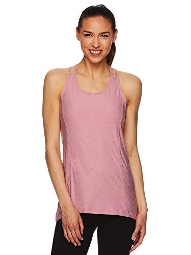 HEAD Women's Racerback Tank Top - Sleeveless Flowy Performance Activewear Shirt - Wild Rose Heather, Small
