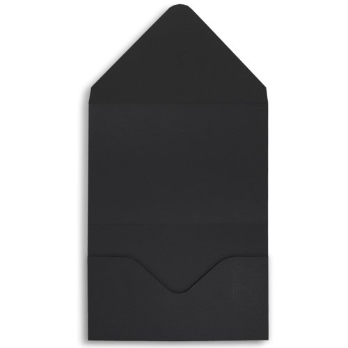 (Midnight Horizontal Tri Fold Invitation Pocket Pouches - Pack of 25-7