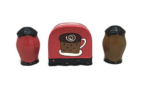 Tuscany Hand Painted Fleur De Lis Coffee Design **Get the Entire Collection** (Salt Pepper Napkin Holder Set) (Coffee Mug Cookie Holder)