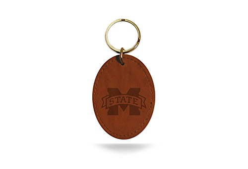 NCAA Mississippi State Bulldogs Leather Embossed Keychain