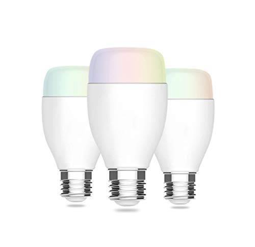 Cheap WiFi Smart LED Light Bulb A19 Tunable Color Changing LED Bulb, RGB Music Sync Dimmable Color Changing Bulbs, Works with Amazon Echo Alexa,Google Home, No Hub Required (3pcs)