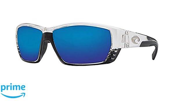 3380ff10c6cb8 Amazon.com  Costa Tuna Alley Sunglasses Crystal Blue Mirror Glass W580   Clothing