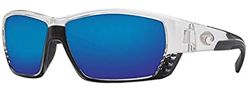 Costa Tuna Alley Sunglasses Crystal/Blue Mirror Glass ()