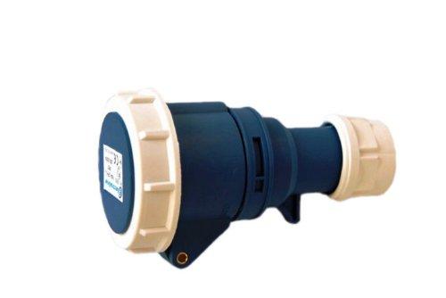 2 opinioni per Electraline 80850 Presa Elettrica Industriale, IEC, 16A, 2P+T, 220V, IP67, Blu