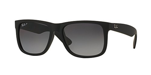 RB Justin Sunglasses (55 mm Matte Black Frame Polarized Black Lens, 55 mm Matte Black Frame Polarized Black - Black Justin