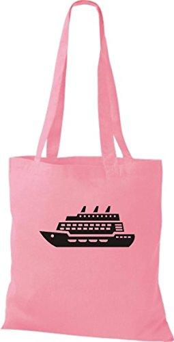 Yute Crucero Rosa Tela De Shirtstown Bolsa Barco Pasajeros d1qHdTpA