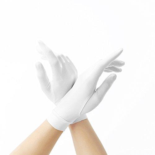 シルク手袋 ALUL(アルール) 手袋 シルク 手触りが良い 紫外線防止 日焼け防止 手荒いを防ぎ 保湿 ハンド ケア(ホワイト)