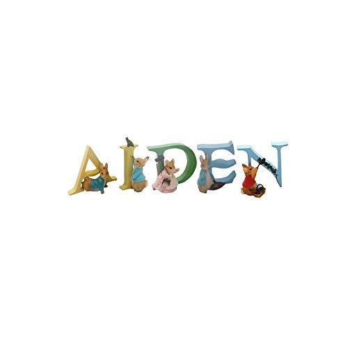 OFFICIAL LICENSED BEATRIX POTTER PETER RABBIT BOYS NAME AIDEN ALPHABET LETTERS