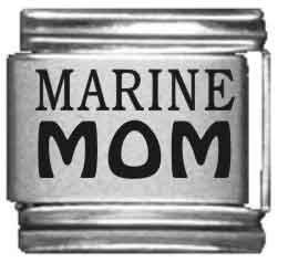 Marine Mom Laser Italian Charm