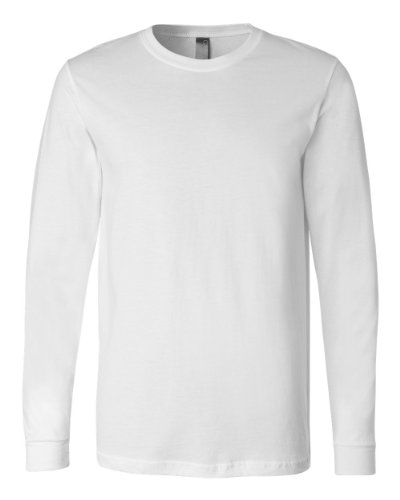 Bella 3501 Mens Jersey Long Sleeve Tee - White, Extra Large