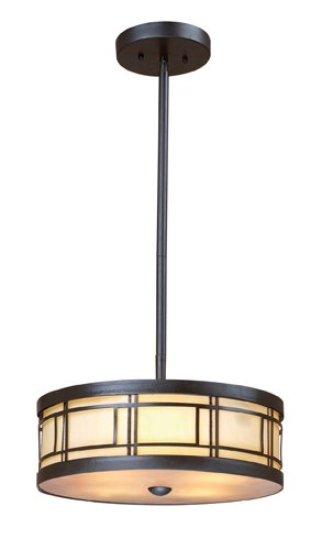 Landmark 70161-3 Modulus 3-Light Pendant, 5-Inch, Tiffany Bronze