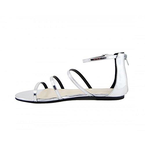 Argent Femme Benavente Métal Chaussures 110038 qw7EgI