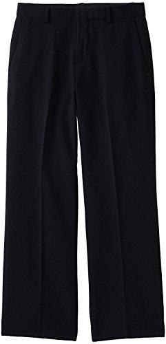(Calvin Klein Boys' Husky Bi-Stretch Flat Front Dress Pant, Navy)