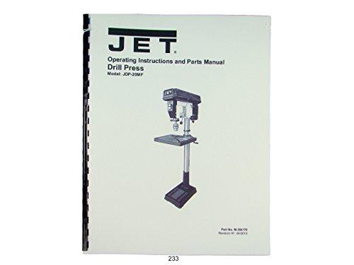 Jet JDP-20MF Drill Press Operator & Parts List Manual