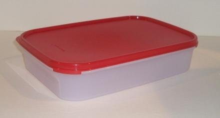 Tupperware Modular Mates Rectangular Storage Container Red Seal