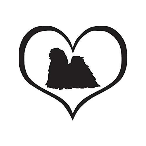 - Yilooom Heart Lhasa Apso Love - Decal Sticker