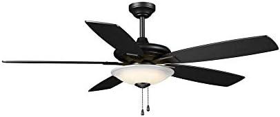 Menage 52 in. Integrated LED Indoor Matte Black Ceiling Fan