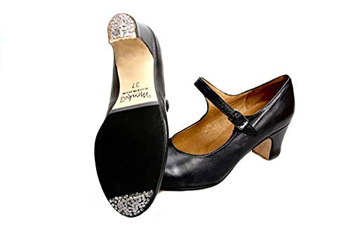 A Leather Menkes Flamenco S Shoes Black with Nails Woman 4v6Uqv