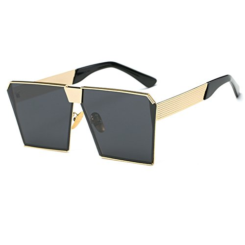 Sunglasses Square Eyewear Fashion Sun Grey UV Luxury Special Frame Unisex Women Gold black Lens Glasses Men Street Protection Sunglasses Oversize rtqtxFwz
