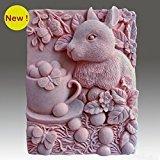 Taza de conejo – 2d jabón/vela/polímero/arcilla/porcelana fría moldes