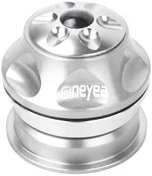 "28.6mm Silver Threadless Headset 1 1//8/"" 44mm Cups Mountain Road Bike"
