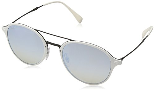 Ray-Ban Kids' Plastic Unisex Square Sunglasses, Light Havana, 55 - Ray Clubmaster Ban White
