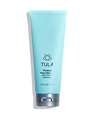 TULA Probiotic Skin Care Purifying Face Cleanser, Deep Pore Cleansing Wash, Removes Makeup, Nourishing and Hydrating