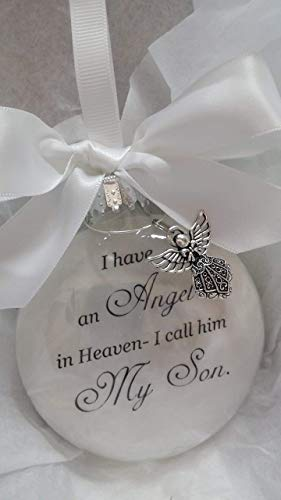 Child Memorial Christmas Ornament Sympathy Gift - Angel in Heaven I Call Him My Son ()