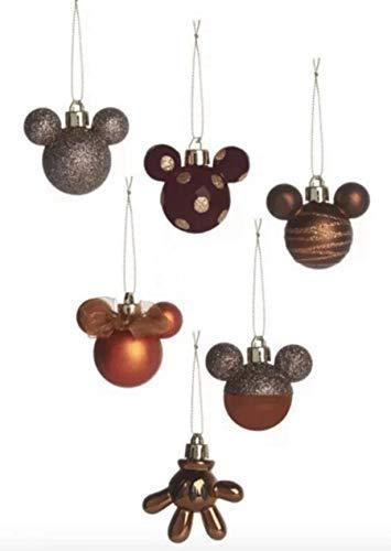 Licensed Disney Mickey Mouse Bola Navidad /Árbol de Navidad Bronce Adornos /Árbol Pack Regalo